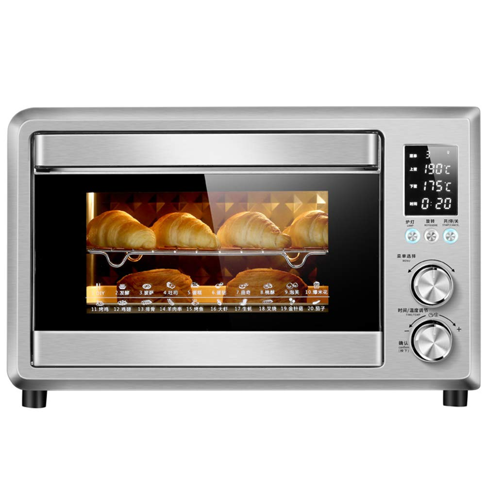 Toaster Oven, Multi-function stainless steel with timer - 40 liters electronic temperature control / 2000W