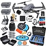 DJI Mavic PRO Drone Quadcopter Flymore Combo with 3 Batteries, Bundle Kit w/Rugged Carrying Case & MUST HAVE Accessories