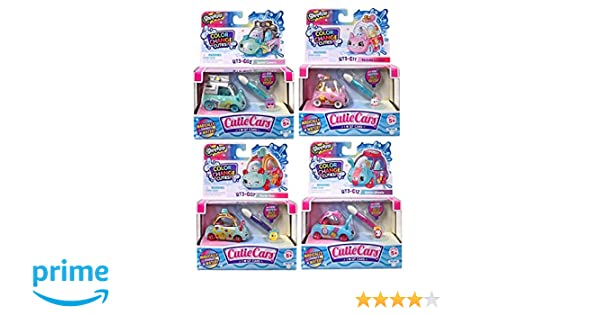 Amazon.com: Shopkins Cutie Cars Series 3 Color Change Set of 4, Styles May Vary. Including Blizy Maze Pen.: Toys & Games