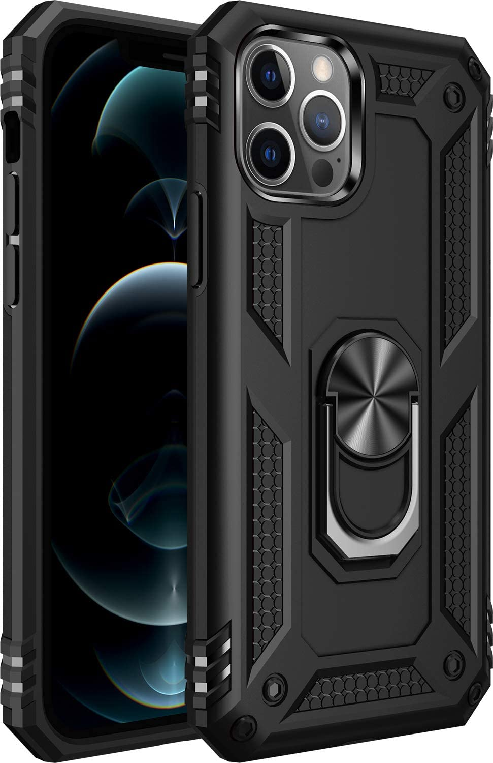 Amuoc Drop Tested Protective Case   Kickstand   6.1 Inch 2020-Black $5.06 Coupon