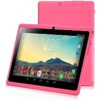 Tablet de 7 Pulgadas Google Android 8.1 Quad Core 1024x600 Cámara Dual WiFi Bluetooth 1GB/8GB Play Store Netfilix Skype Juego 3D Compatible con GMS Certified con Garantía de un año (Rosa)