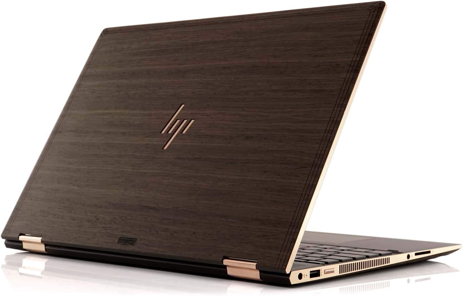 "TOAST - Real Wood, Self-Adhesive Cover for HP Spectre X360 15"" 2018 Model - Ebony"