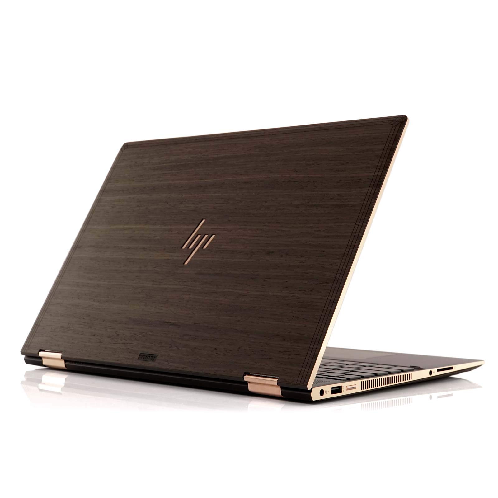 TOAST HPS15-18-HP-04+BOT Real Wood, Ebony Cover for HP Spectre X360 15'' 2018 Model