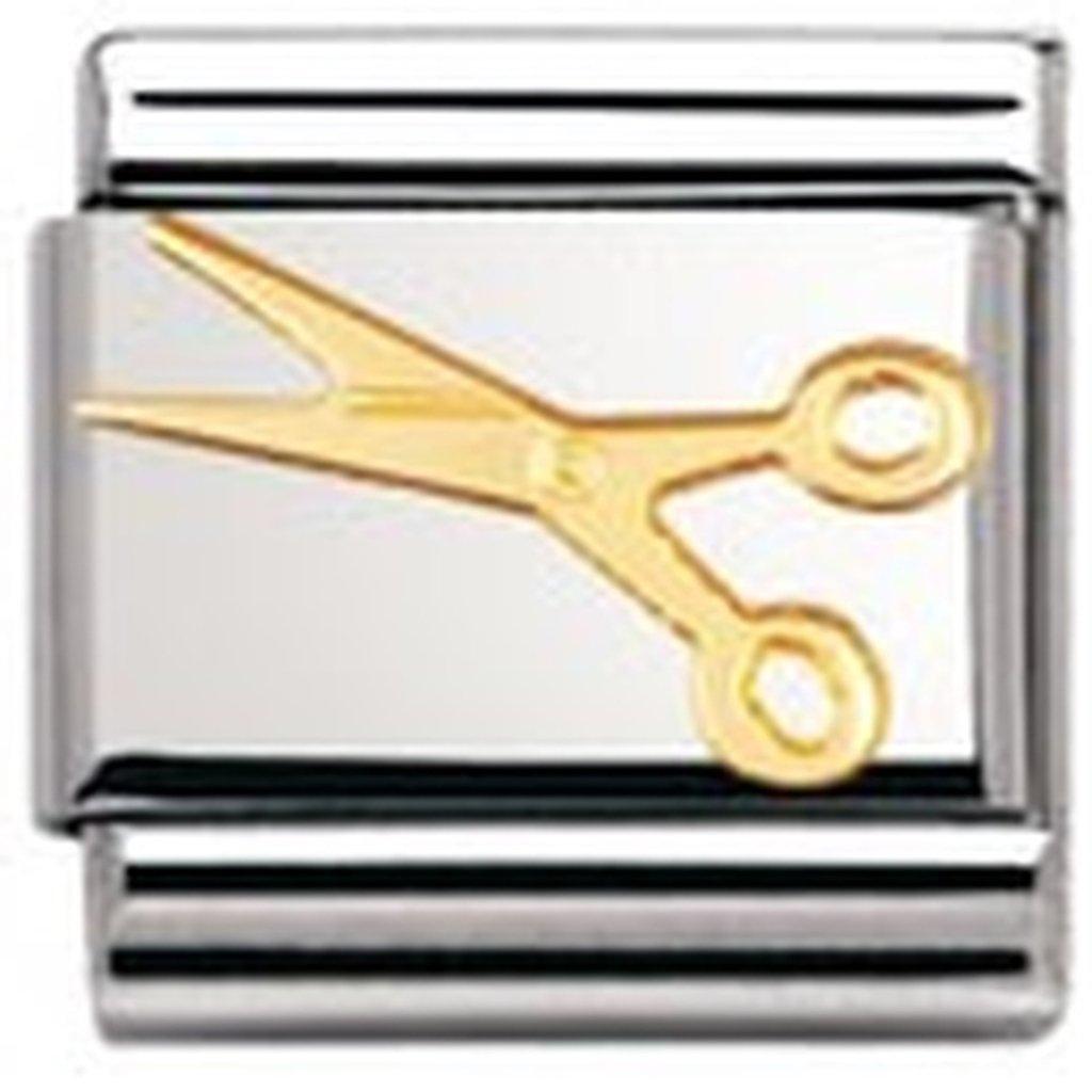 Acier inoxydable et Or jaune 18 cts Maillon pour bracelet composable Mixte Nomination 030109