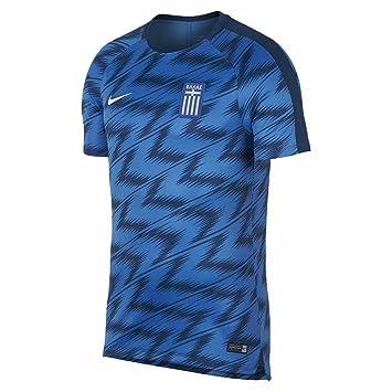 Nike 2018-2019 Greece Pre-Match Training Football Soccer T-Shirt (Blue)   Amazon.co.uk  Sports   Outdoors 18970b12d