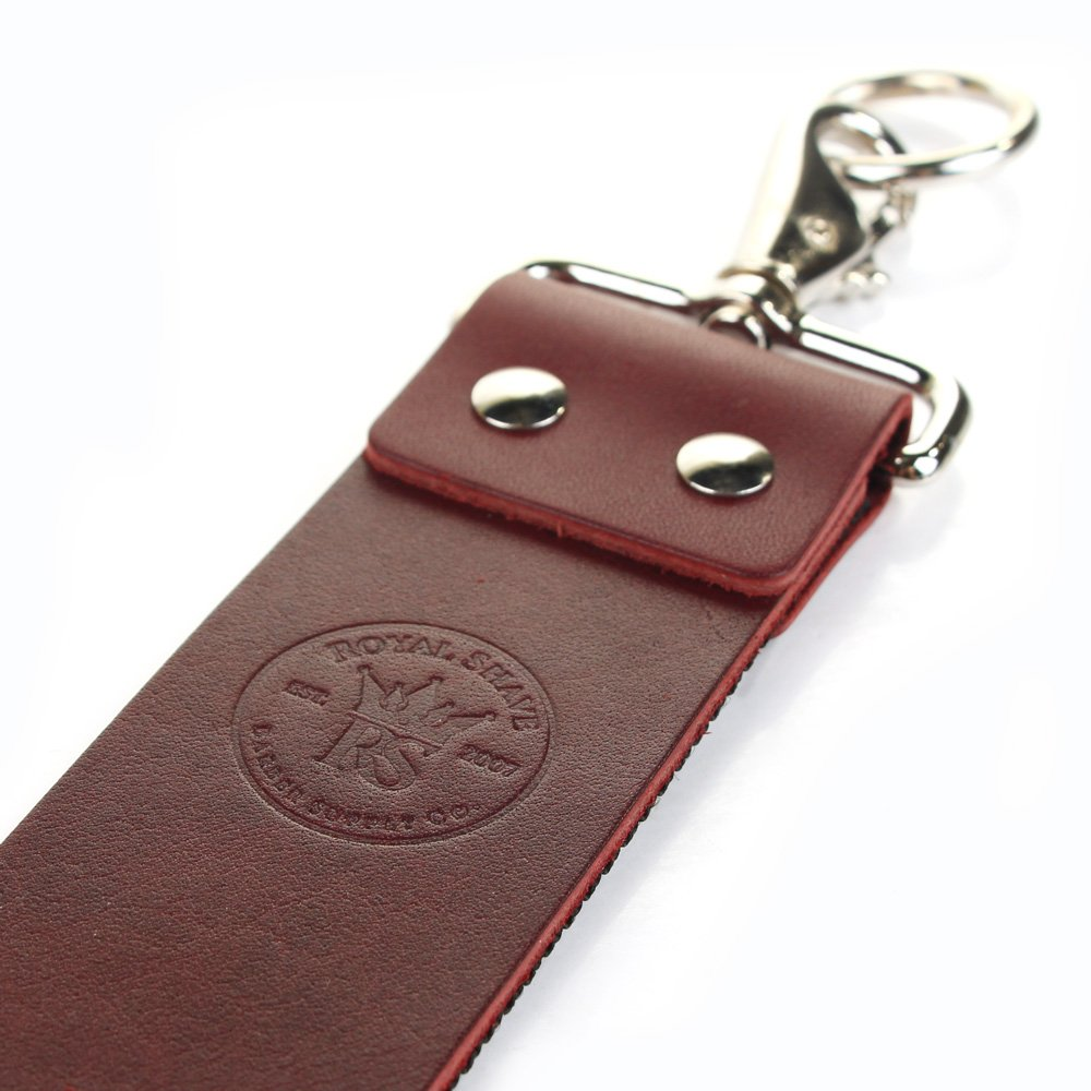 RoyalShave 2'' Red Latigo Leather Razor Strop by Unknown