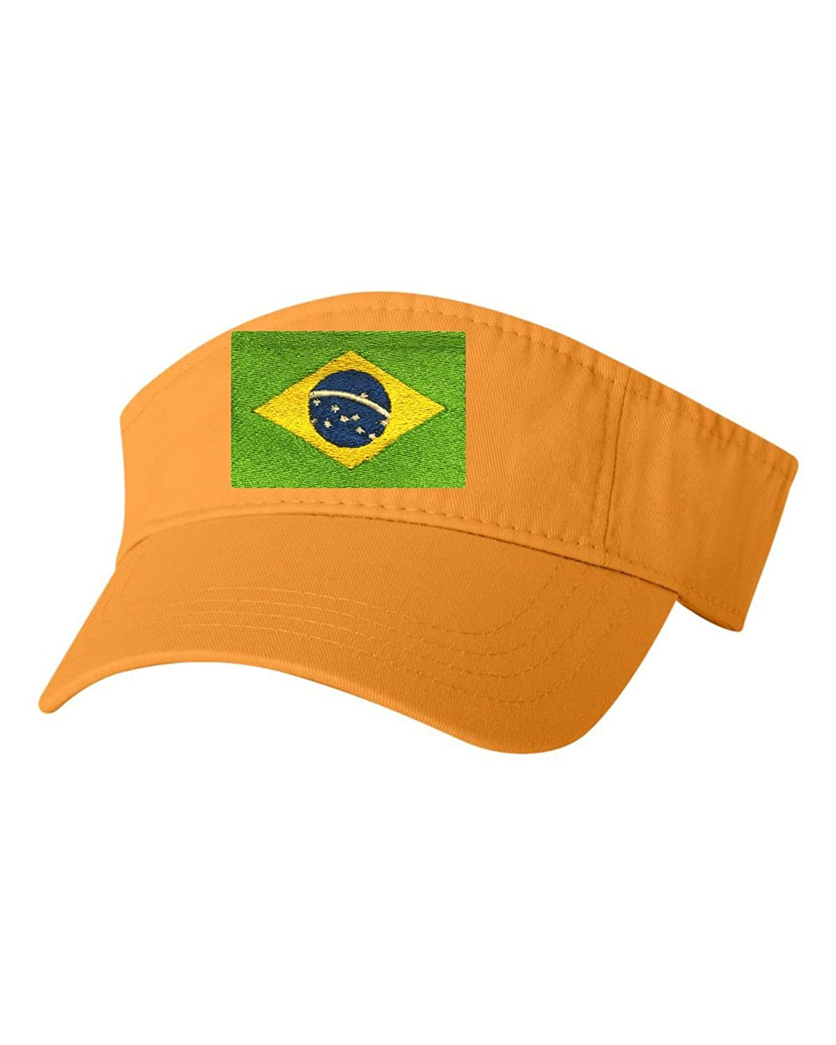 77d11233687 Go All Out Adult Brazil Flag Embroidered Visor Dad Hat  BRAZILFLAGEMB VIS BLB ADJ