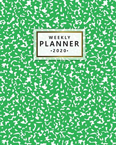 2020 Weekly Planner: Monthly Weekly Daily Views with To-Do's, Funny Holidays & Inspirational Quotes, Vision Boards, Notes & More | 2020 Organizer, Agenda & Diary | Pretty Green Abstract Print ()