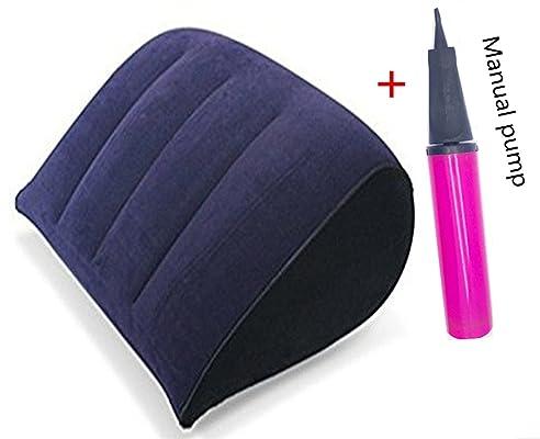 Ubei Aufgeblasen Kissen Leicht Komprimierbar PVC Aufblasbar Beflockter Luft  Kopfkissen Für Sex Sexuellen Körperhaltung Matte Sex