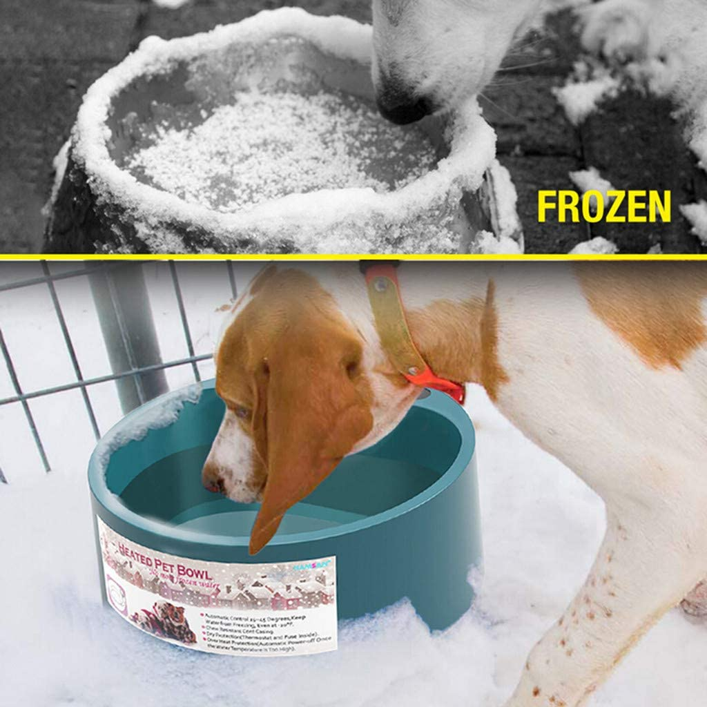 Aseeker Heated Cat/&Dogs Bowl 4.75LB 0.58Gallon 35W Army Green