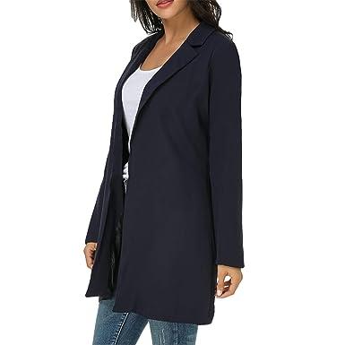 Pragmaticv Blazers para Mujer Chaquetas de Moda Traje Abrigos Ropa ...