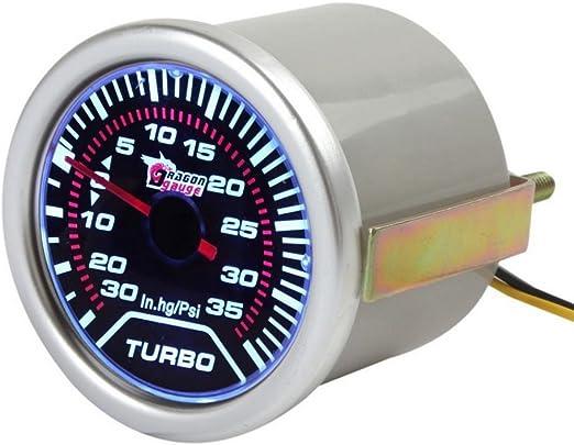 Mintice 2 52mm Led Licht Kfz Auto Universal Psi Turbo Schub Anzeige Instrument Gauge Rauchfarbe Len Auto
