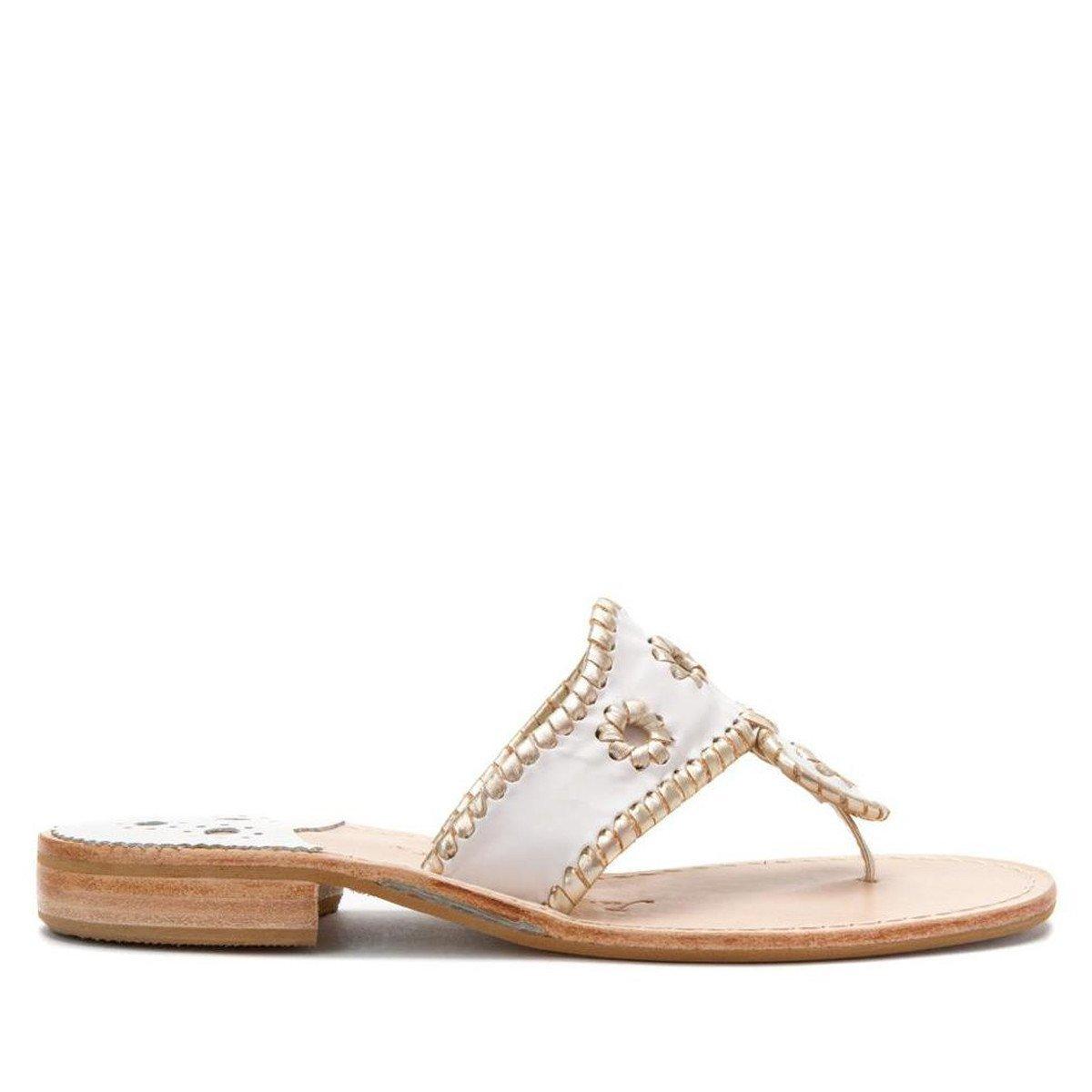 Jack Rogers Navajo Hampton- White Platinum Thong Sandal - Size: 10