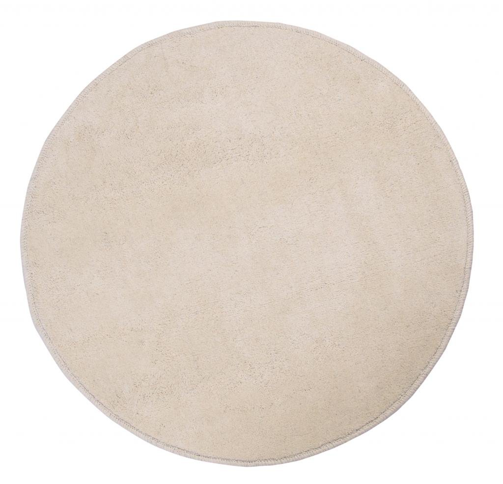 Homescapes Dekorativer Kurzflor Teppich rund grau - 150 cm cm cm 42e4e3