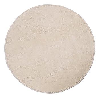 Teppich rund creme  Homescapes Dekorativer Kurzflor Teppich rund creme - 70 cm: Amazon ...
