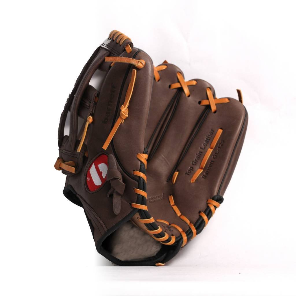 marron pour gaucher RH barnett GL-125 gant de baseball cuir 12,5