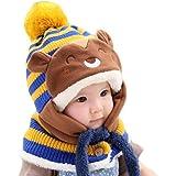 GBSELL Winter Hats Baby Kids Girls Boys Cute Animal Warm Woolen Coif Hood Scarf Hats Caps Sport