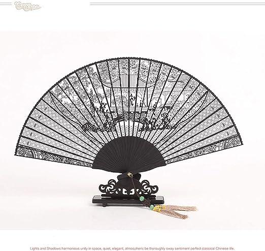 DFRgj Ventilador Plegable de Mano Chino/japonés Artesanía ...