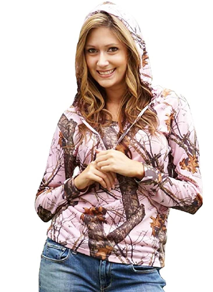 df78364c7bdea Amazon.com: Pink Camo Mossy Oak Hoodie Tee Juniors Plus & Regular Poly  Jersey Hooded Top S-XXL (Large, Mossy Oak Break Up Pink Multi): Clothing