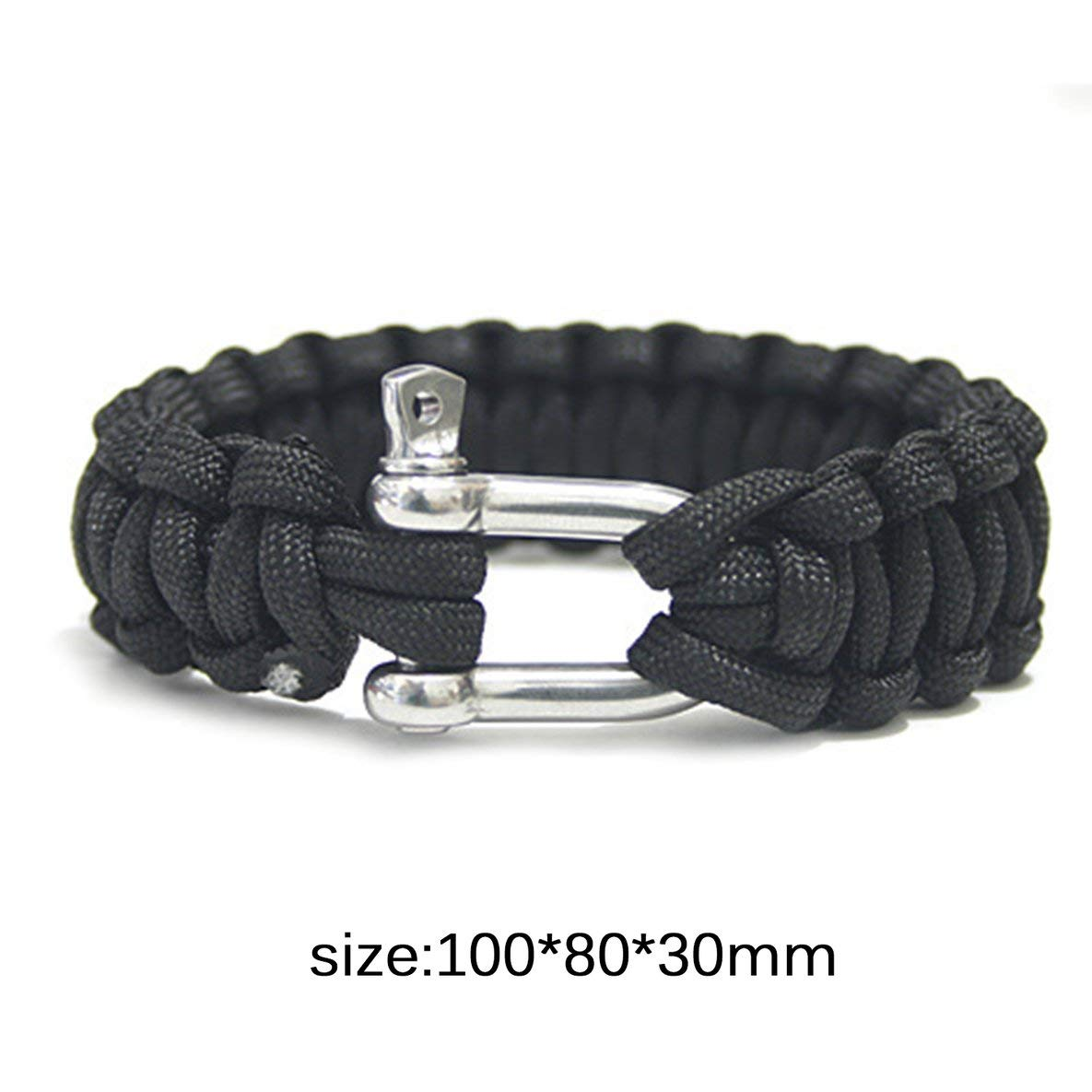 Noradtjcca Einstellbare Gr/ö/ße Schnalle Paracord Survival Armband Parachute Cord Armband Schnalle Whistle Camouflage F/ür Outdoor Camping Wandern