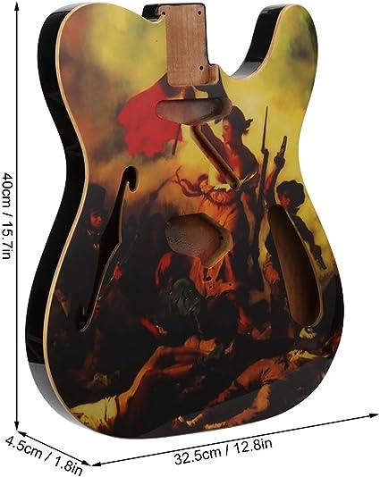 Wandisy Guitarra eléctrica Cuerpo de Madera Pintada Piezas de ...