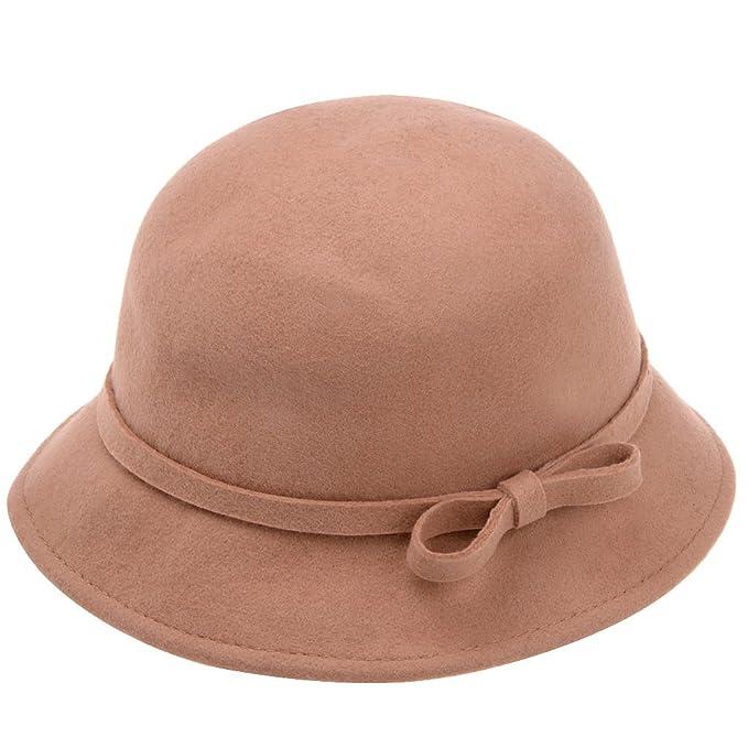 958b90b04fdcb Vbiger – Sombrero fedora sombrero Floppy Sombrero Sombrero de ala ancha  clásico para las mujeres