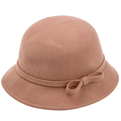 Vbiger Fedora Hat Floppy Hat Bowler Hat Wide Brim Hat Vintage For Women  (Beige)