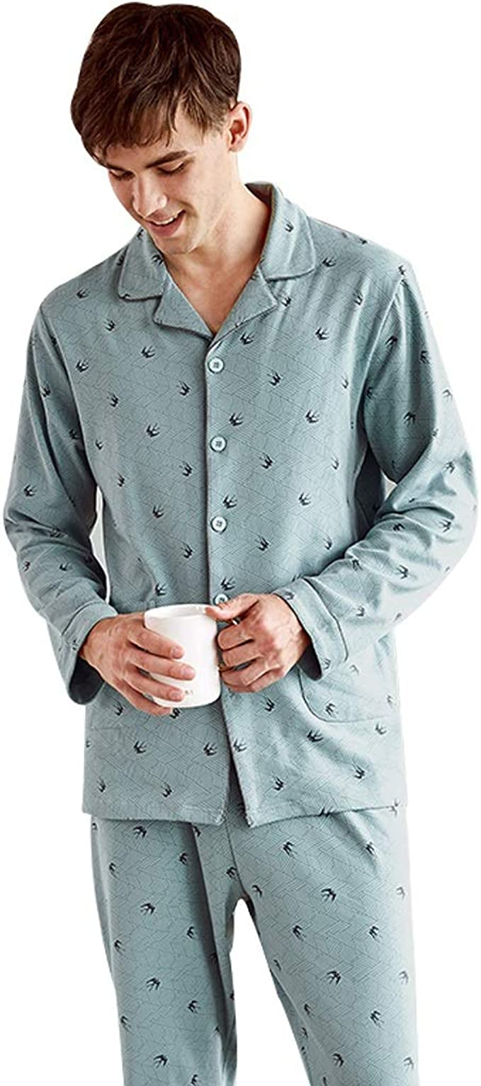 Pijamas de Color Verde Claro para Hombre Cuatro Temporadas de ...