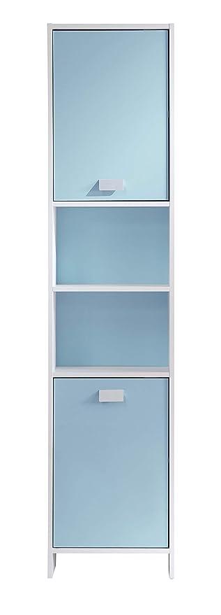 TOP Colonne de salle de bain L 40 cm - Blanc et bleu: Amazon ...