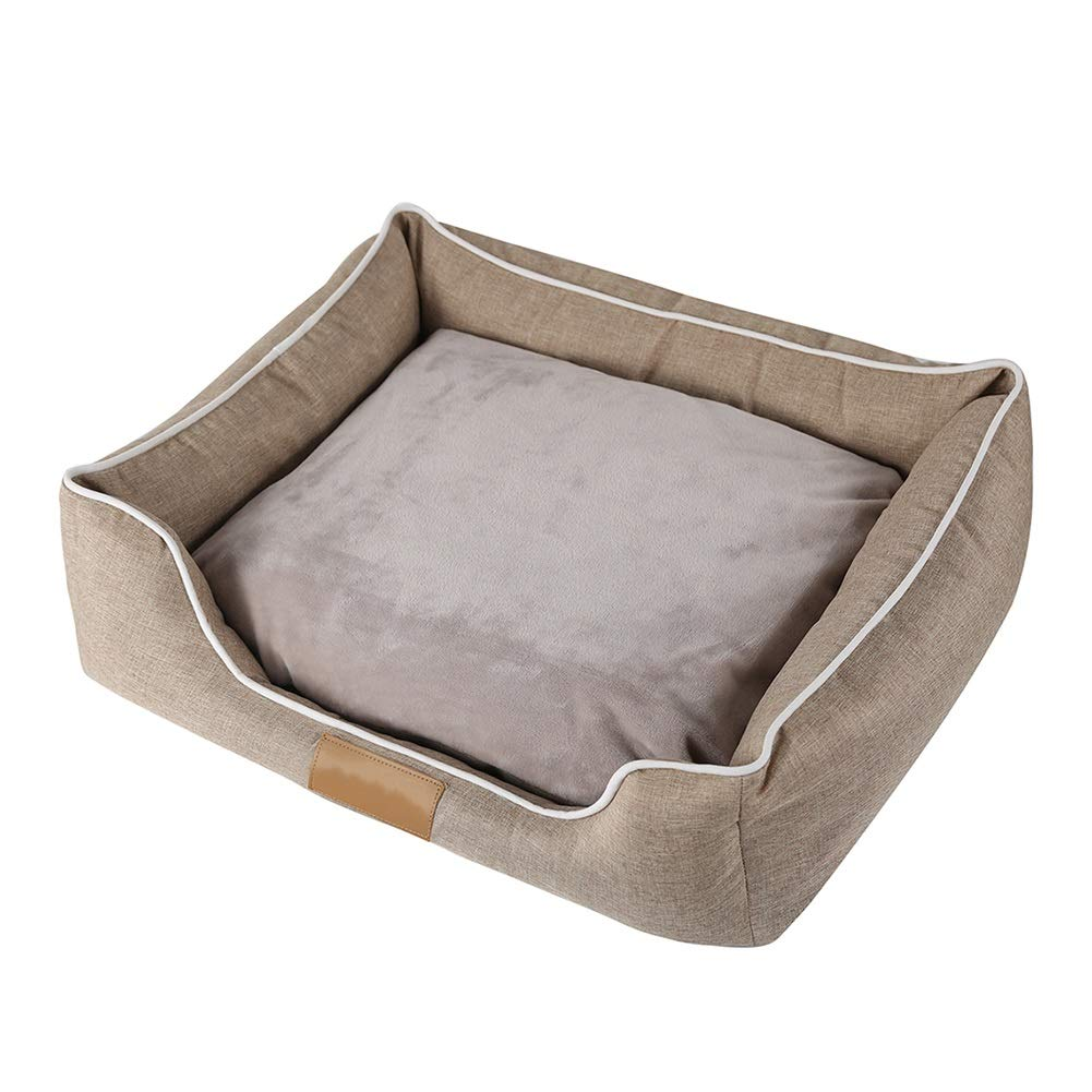 M(554516cm) Pet bed Removable Pet Litter Cat Dog Mat Puppy Cushion Oxford Cloth With Removable Cushion Winter (Size   3piece set)