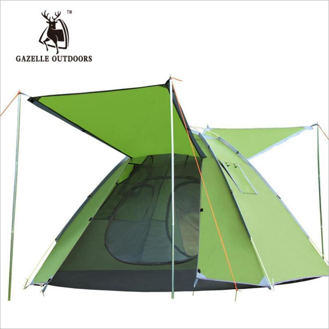 LDD STAR Outdoor Zelt 3-4 Personen schnell öffnen Diamanten doppelte atmungsaktive automatische Camping Zelte Outdoor LieferungenRechenschaftsbügeleisen (nicht enthalten)