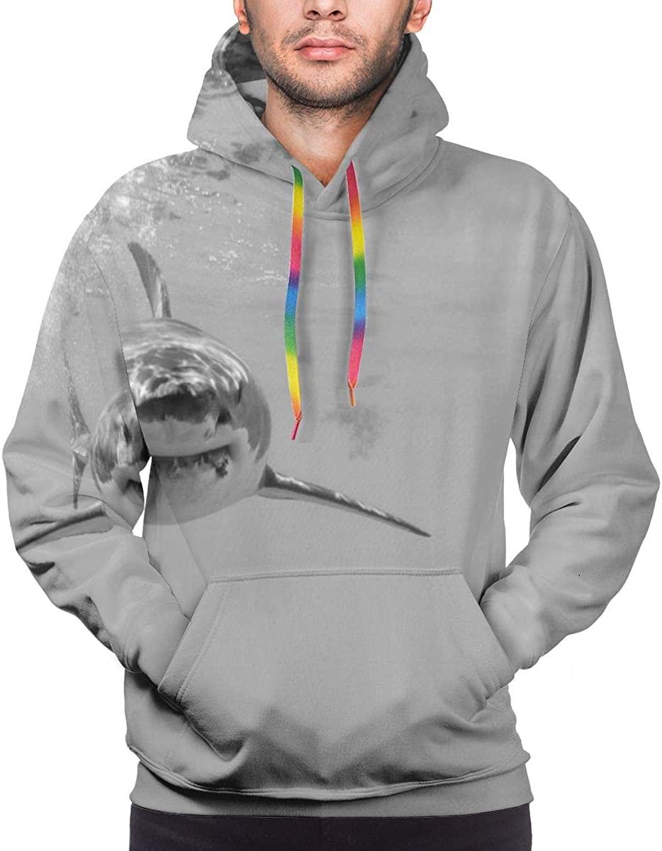 Men's Athletic Fit Hooded Sweatshirt Active Hoodie,Green Bearded Dragon Lizards Climbing The Tree