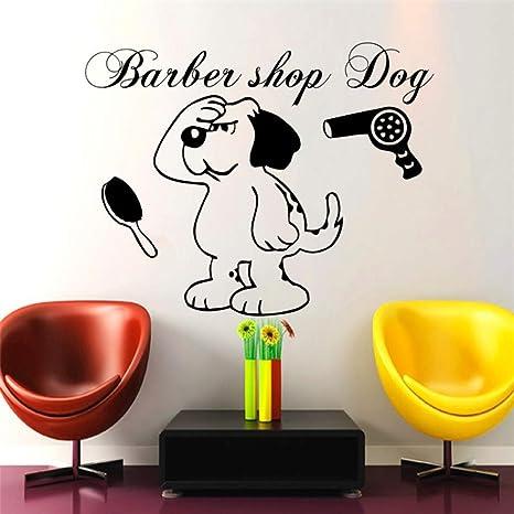 guijiumai Diseño de Interiores Peluquería Dog Dog Decal ...