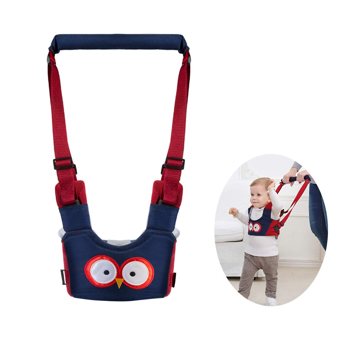 Baby Walking Harness Adjustable Baby Walker Assistant Protective Belt for Kids Infant Toddlers (Blue)