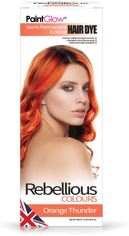 Paintglow - Rebellious Colours - Tinte de Pelo Semi-Permanente Color Naranja Trueno, 70 cl, 1 unidad