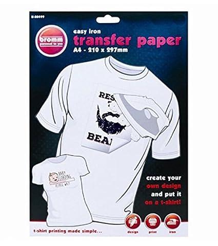 Papel transfer de ILOVEDIY, para camisetas y tela de colores, tamaño A4, 10 hojas, compatibles con impresora de inyección de tinta InkJet