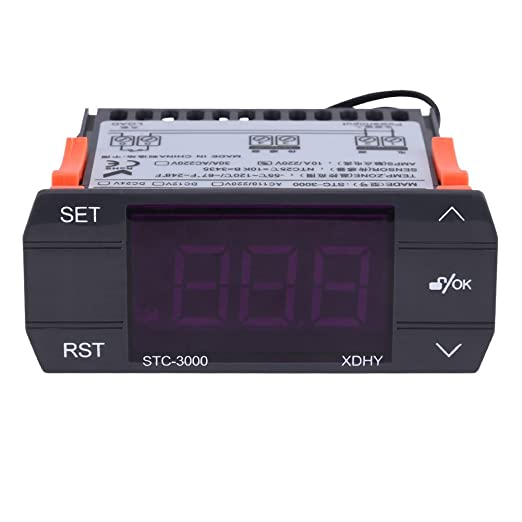 STC-3000 110V-220V Touch Digital Temperature Controller Thermostat with Sensor -55 to 120 °C, Temperature Controlling for Farms Greenhous Storage ...