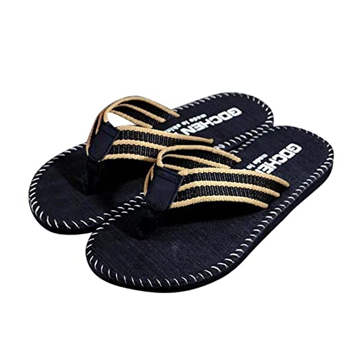 0aa3d4fbfa5041 MILIMIEYIK Flip Flops Shoes Men Summer Round Toe Rome Style Sandals Male  Slipper Indoor Or Outdoor
