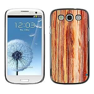 X-ray Impreso colorido protector duro espalda Funda piel de Shell para SAMSUNG Galaxy S3 III / i9300 / i747 - Grain Texture Vertical Brown