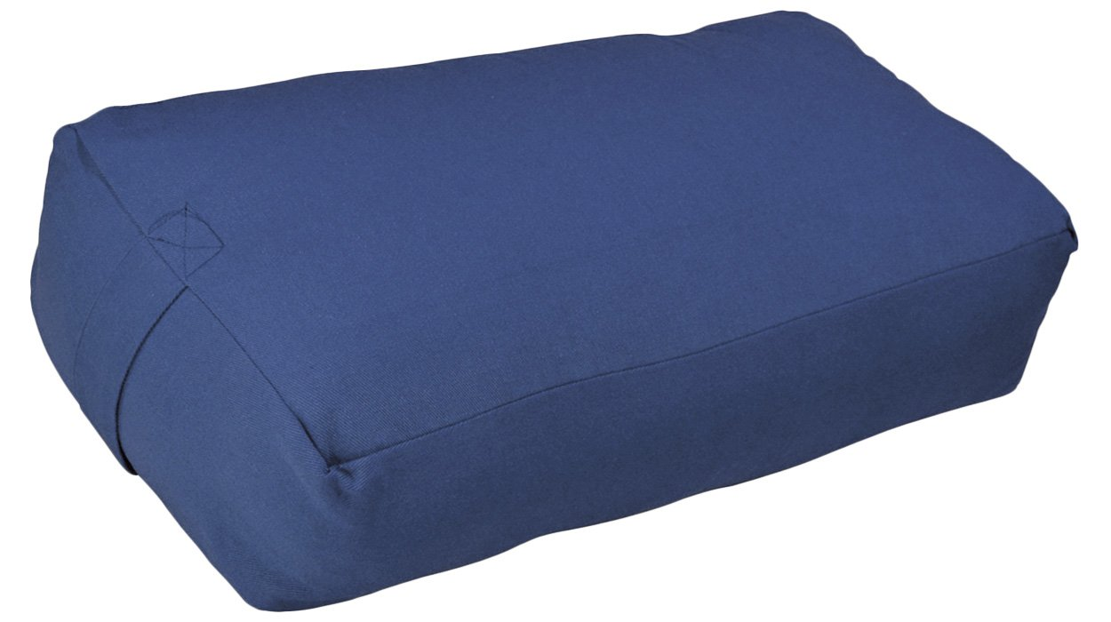 YogaAccessories Zen Cotton Meditation Pillow - Blue