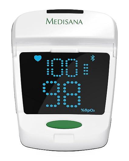 Medisana PM 150 Connect - Pulsioxímetro, con función Bluetooth Smart, color blanco y gris