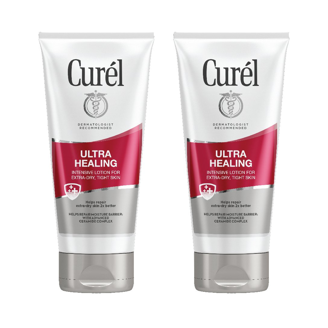 Curél Ultra Healing Intensive Lotion for Extra-Dry, Tight Skin, 6 Ounces (Pack of 2)