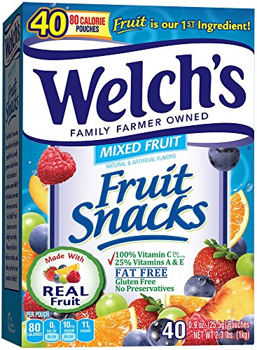 WELCH'S Mixed Fruit Snacks, 0.9 Ounce, 40 Count (Pack of 1)