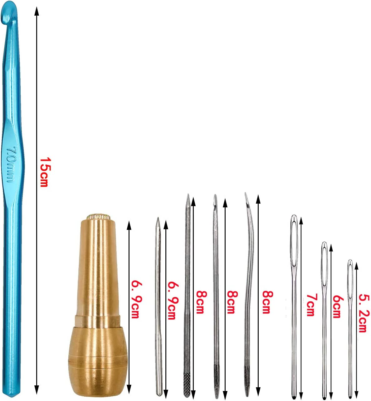 S-Mechanic H/äkelnadeln-Set,14 St/ück Volle Gr/ö/ßE 2mm-10mm Style 1 H/äkelnadeln Stricknadeln aus,Aluminium H/äkelnadeln Stricknadeln Weben Nadeln H/äkelhaken Set