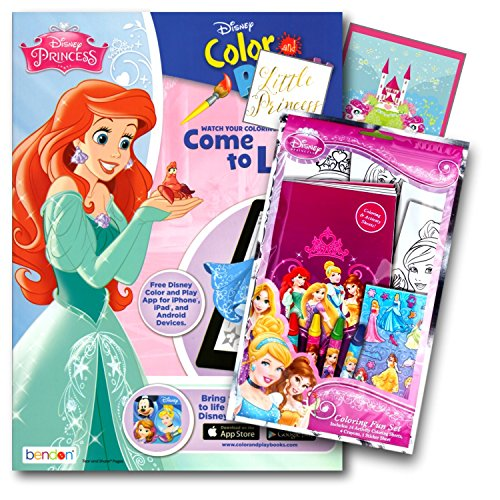 Disney Princess Coloring Book Pack With Stickers Crayons And Activity Bundled 2