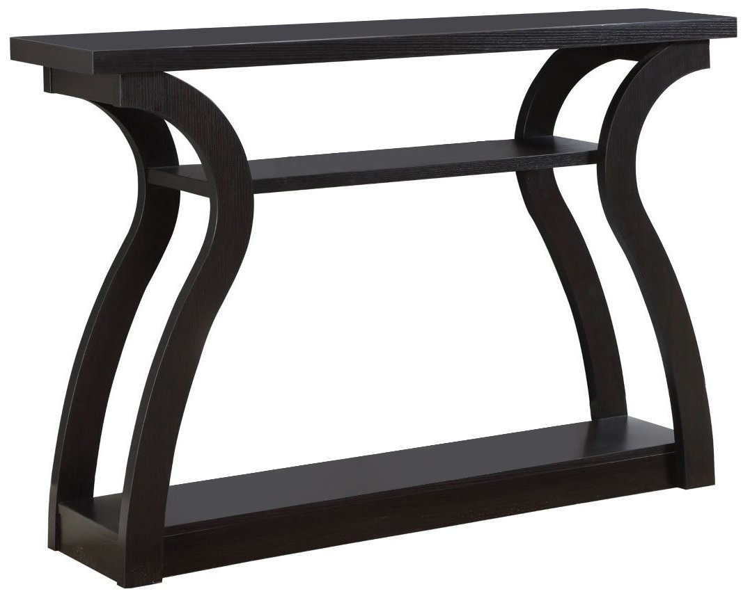 Monarch Specialties I 2445, Hall Console, Accent Table, Cappuccino, 47'' L by Monarch Specialties