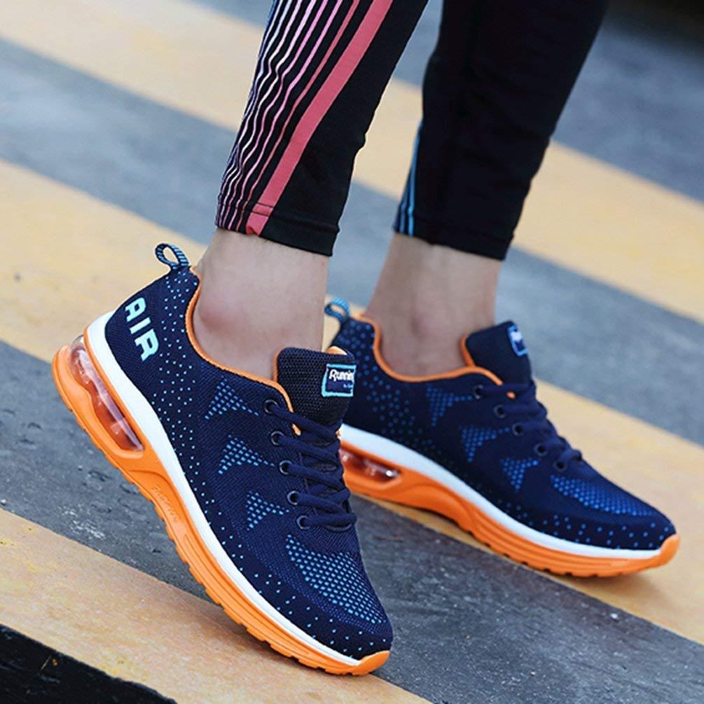 ZHRUI Atmungsaktive Fliegenschnur Fliegenschnur Fliegenschnur Air Herren und Damen Laufschuhe Turnschuhe Sportschuhe (Farbe   Men Blau Orange, Größe   9.5 UK) a378cd