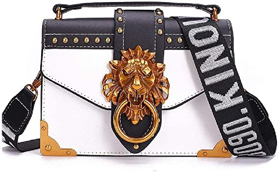 Metal Lion Small Square Pack Bolsos Mujer Crossbody Lady Clutch Wallet Handbag: Amazon.es: Equipaje