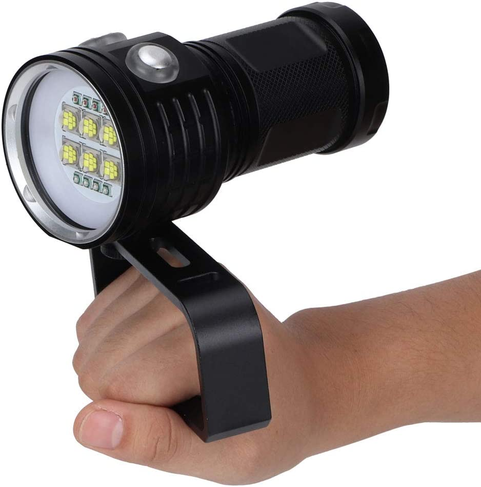 NITRIP Handheld Durable LED Torch, Super Bright Practical Diving Flashlight, for Outdoor Underwater(B15) B24