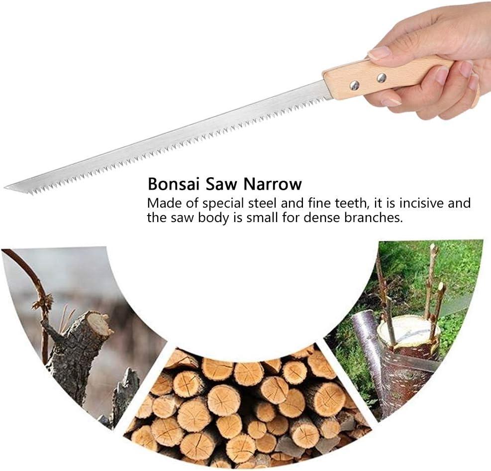 HERCHR Asts/äge 325 mm Hands/äge mit Trapez-Verzahnung und Holzgriff Universal f/ür Garten Bonsai frisches Holz